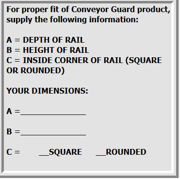 Guard Specs on Contact Conveyor Guard